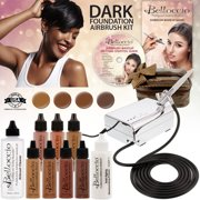 Belloccio Professional Deluxe Dark Shade AIRBRUSH COSMETIC MAKEUP SYSTEM Kit Set