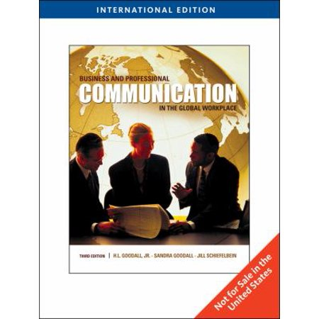 Business And Professional Communication In The Global Workplace  International Edition  Paperback