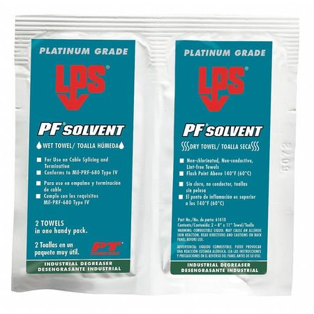 LPS 61410 Solvent and Degreaser Wipes,