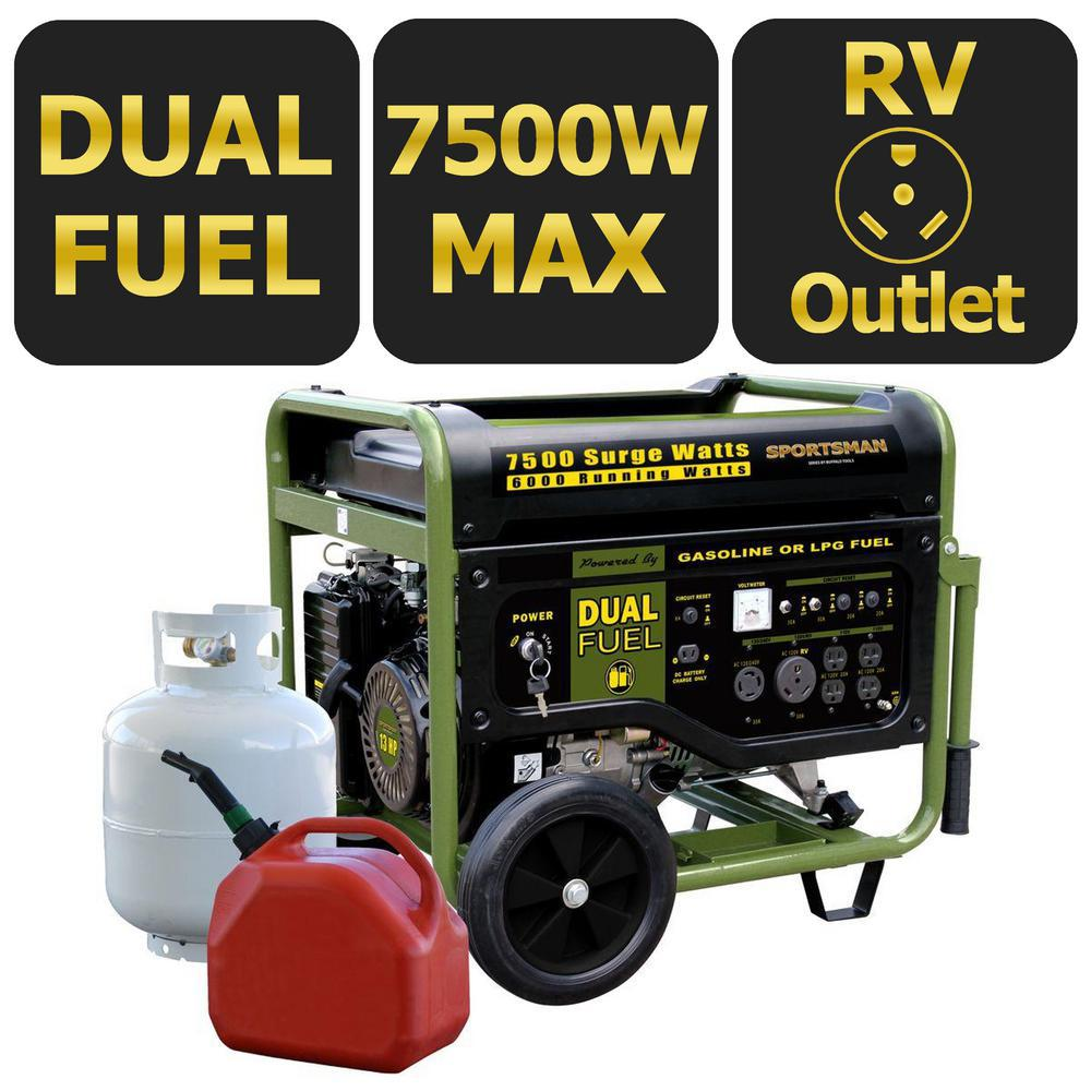 Sportsman 7500W Dual Fuel Generator