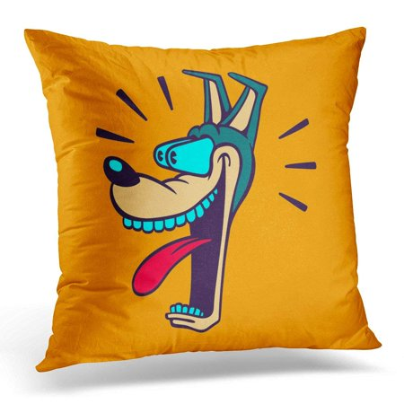 CMFUN Retro Cartoon Style Dog Head Wide Eyed and Jaw Dropping with Astonished Surprised Face Expression Pillow Case Pillow Cover 20x20 (Wide Eyes Face)