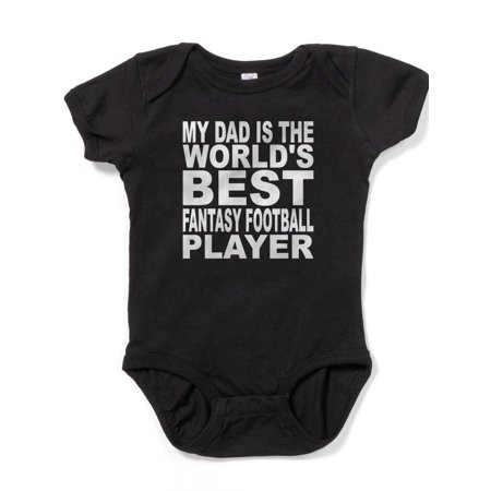 CafePress - My Dad Is The Worlds Best Fantasy Football Player - Cute Infant Bodysuit Baby