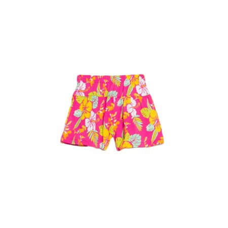 bossini Passionate Spree Girls Tropical Flower Print Knit Culottes - Pink,Size 100,US Size - Printed Culottes