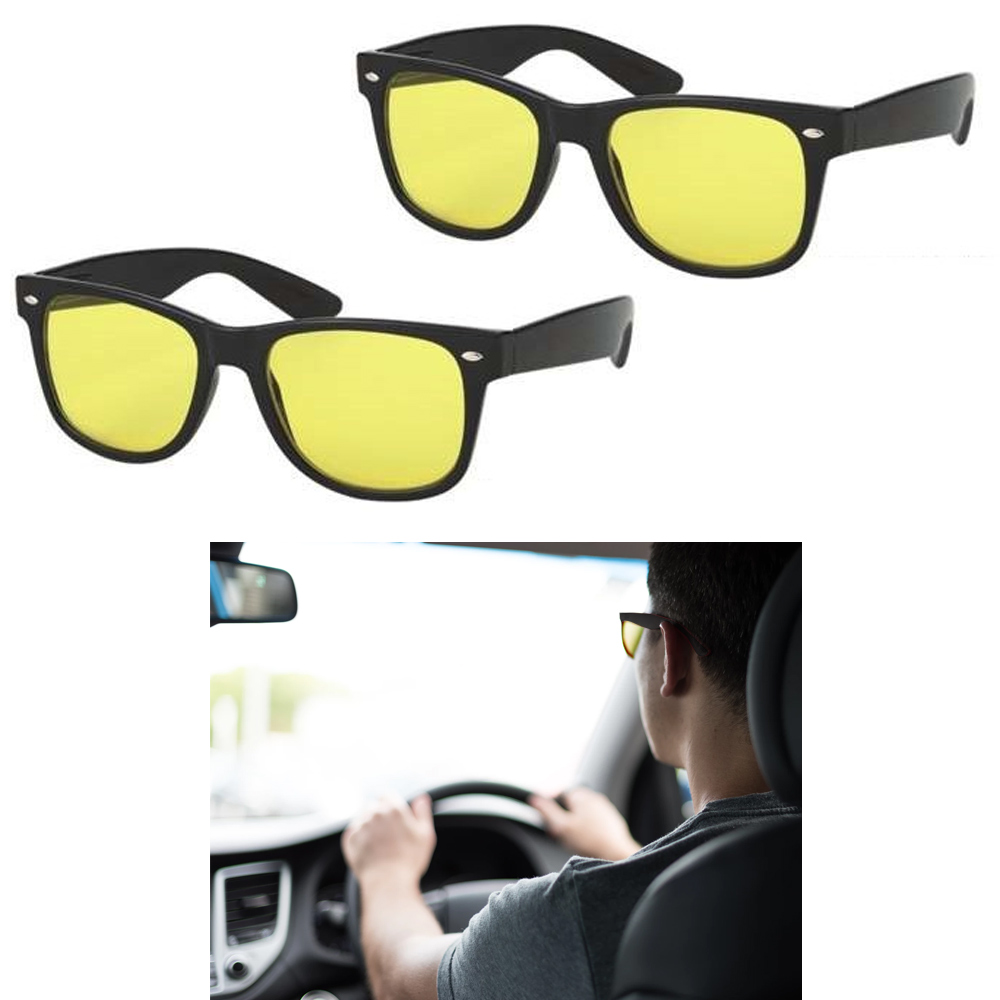 2 Night Vision Driving Glasses Sunglasses Sport Goggles UV400 Safety Eyewear