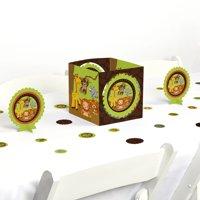big dot of happiness funfari - fun safari jungle - baby shower or birthday party centerpiece & table decoration kit