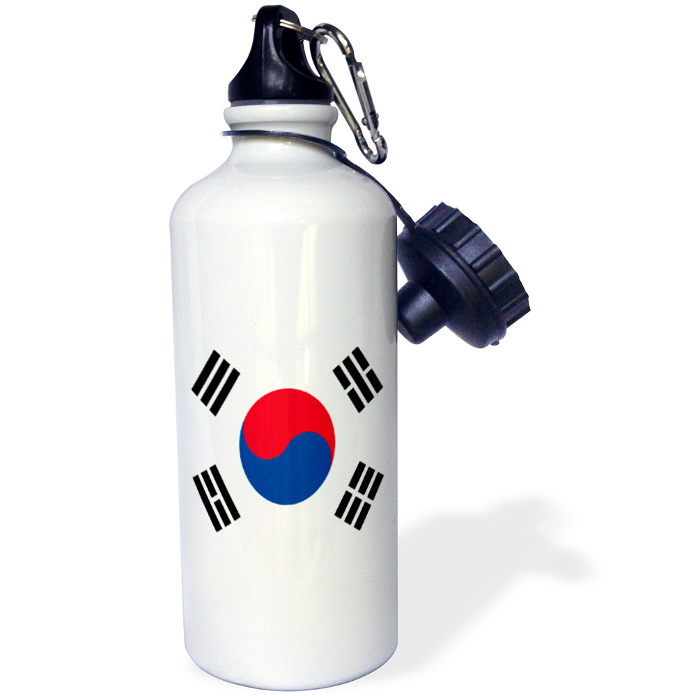 3dRose South Korea Flag, Sports Water Bottle, 21oz by 3dRose
