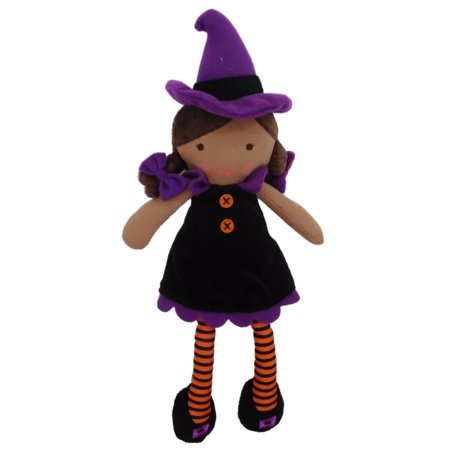 Carters Halloween Witch Plush Stuffed Animal Bean Pal - Ethnic