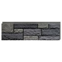 NextStone Faux Polyurethane Stone Panel - Random Rock Mountain Shadow