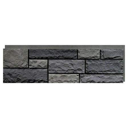 NextStone™ Faux Polyurethane Stone Panel - Random Rock Mountain (Vinyl Siding)