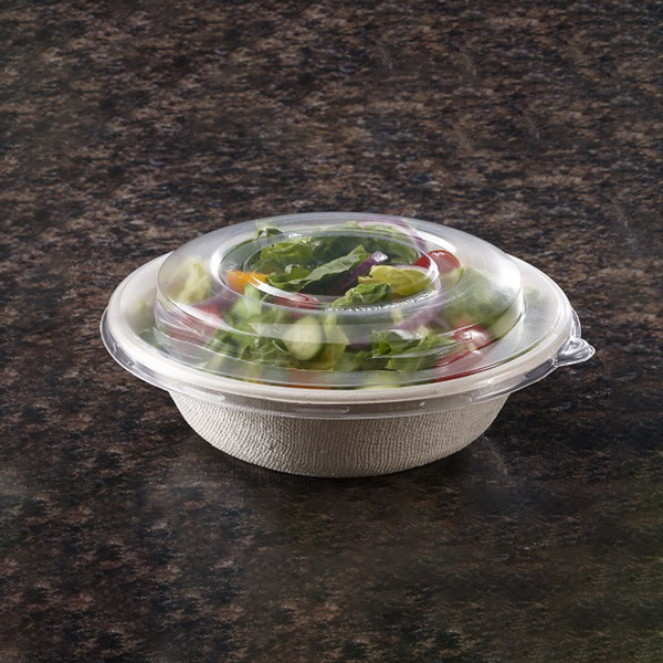 Sabert PET High Dome Lid for Pulp Fiber Round Bowl 24 oz, Clear | 300/Case