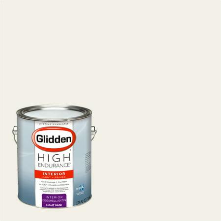 Glidden High Endurance, Interior Paint and Primer, Angel's Halo White, # 68YY (White Latex Paint)