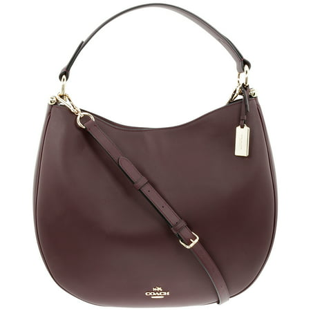 Glovetanned Oxblood Leather Hobo Ladies Handbag (Coach Duffle Shoulder Bag In Glovetanned Leather)