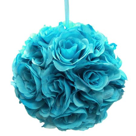 Silk Flower Kissing Balls Wedding Centerpiece, 10-Inch ()