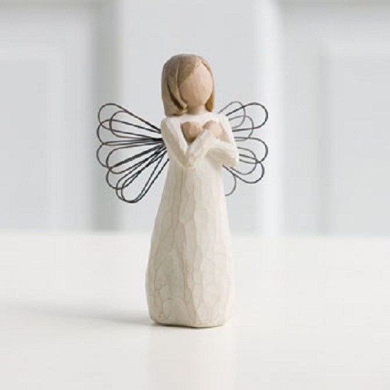 Willow Tree Sign of Love I Love you Angel Figurine Susan Lordi 26110 New Demdaco by Willow Tree