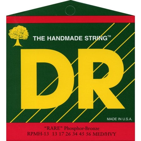 Rare Phosphor Bronze Acoustic Guitar - DR Strings Rare Phosphor Bronze Medium Heavy Acoustic Guitar Strings