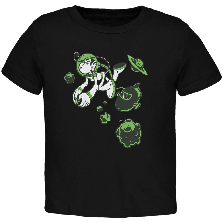 Space Monkey Black Toddler T-Shirt