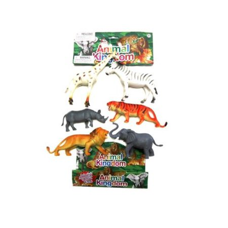 Jungle Animals 6 Piece Toy Animal Figures Playset, Includes a Variety of Animals