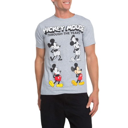 Mickey Mouse's Evolution Men's Short Sleeve Crew Neck T-shirt, up to Size 3XL for $<!---->