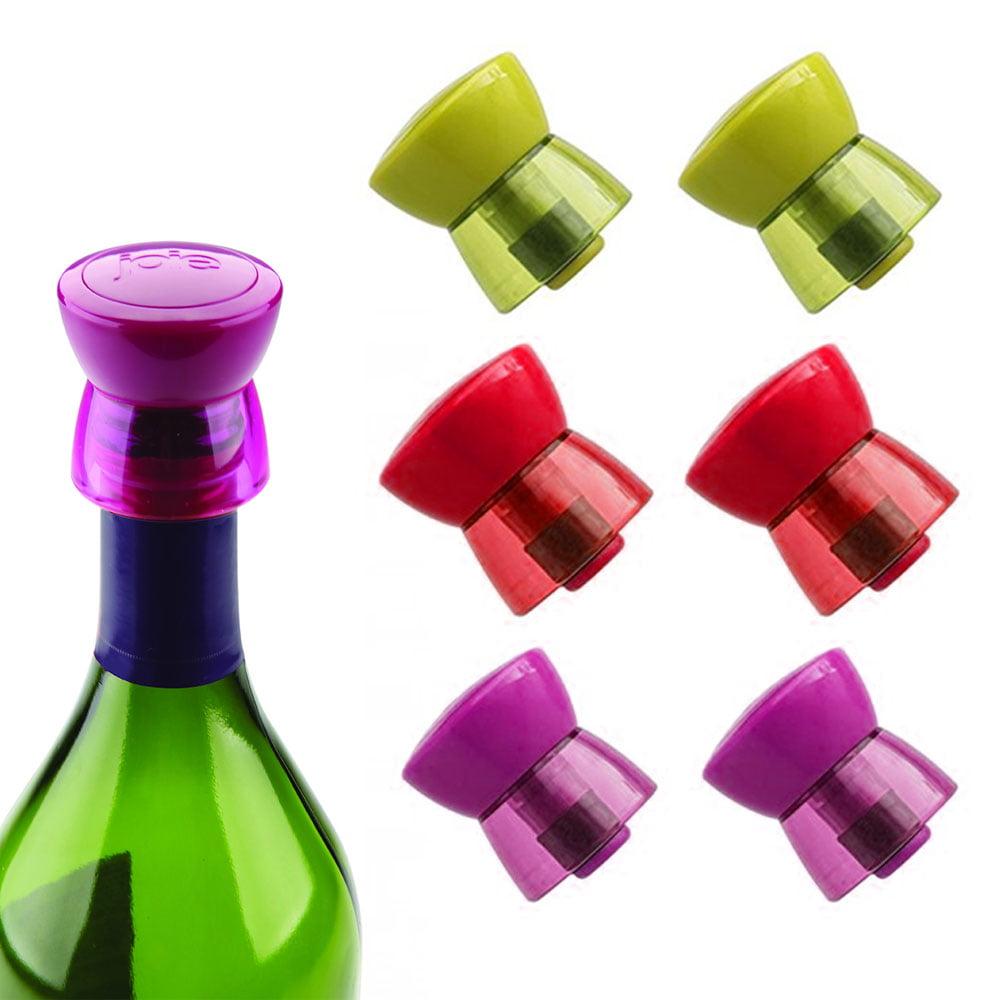 6pc Joie Wine Bottle Stopper Twist Top Seal Saver Vacuum