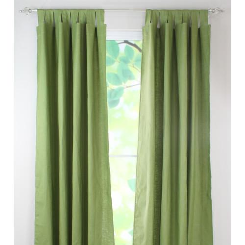 Brite Ideas Living Circa Solid Linen Tab Top Curtain Panel