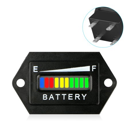 48V Volt LED Battery Indicator Meter Gauge Charge Discharge Testers for EZGO, Club Car, Yamaha Golf Carts/Yale, Toyota, Crown Forklifts/Marine Boats and so on (Battery Box Meter)