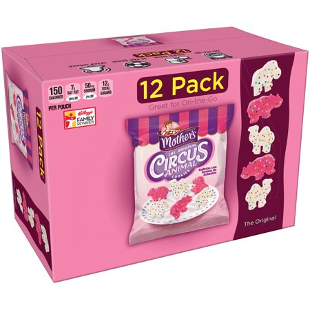 Mother's The Original Circus Animal Cookies, 12 Pouches, 4 Pack