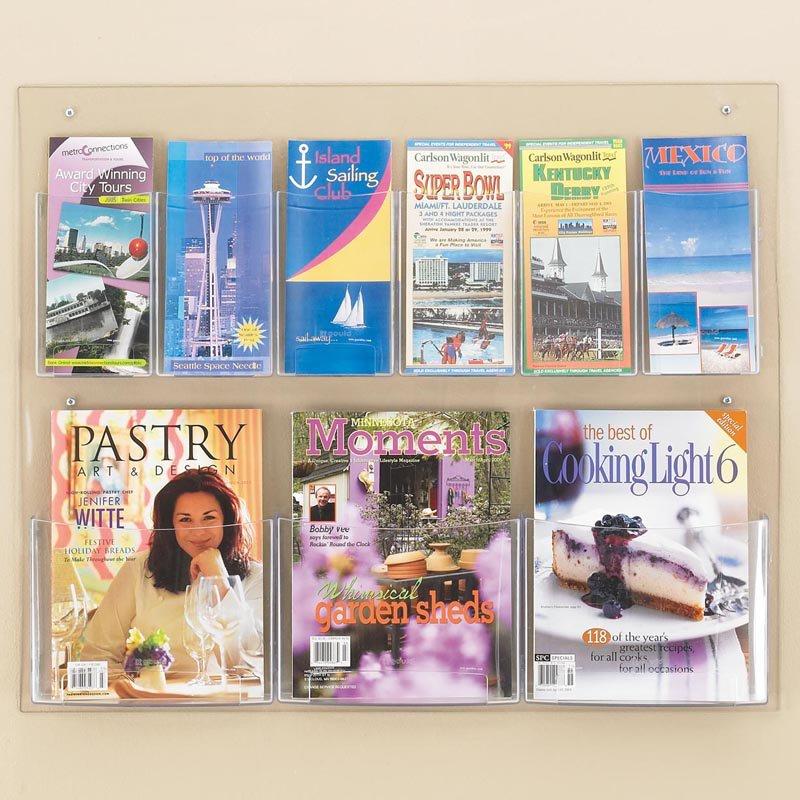 6 Pamphlet and 3 Magazine Pocket Rack