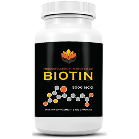 me first living biotin supplement 5,000 mcg per capsule, vegan, all natural, hair growth, nail growth & strength and cell rejuvenation - 120