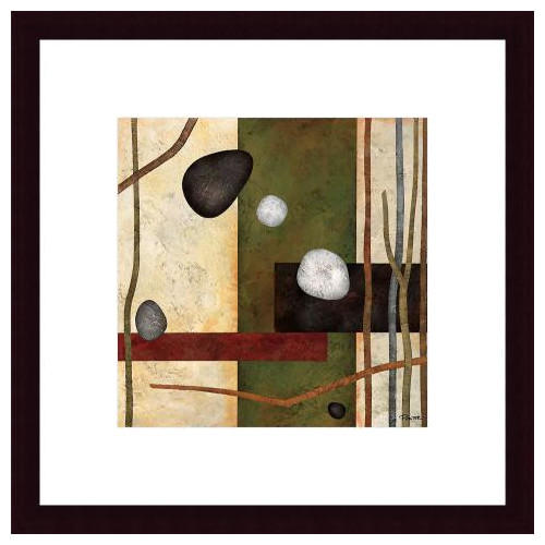 Printfinders Sticks and Stones VIII by Glenys Porter Framed Painting Print
