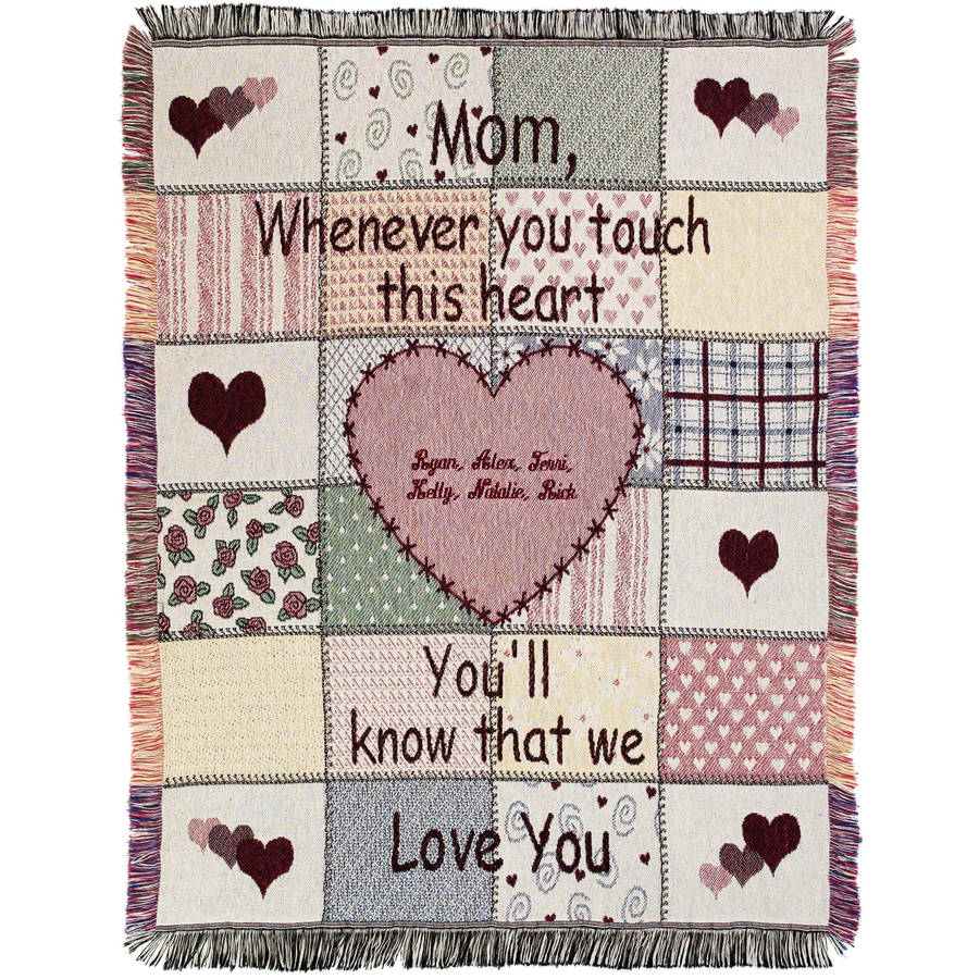 Personalized Mother's Touch Throw