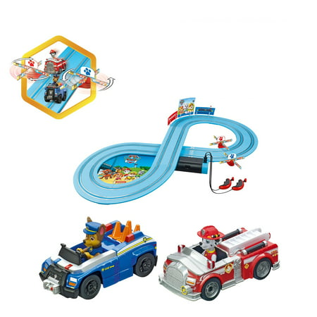 Carrera FIRST Paw Patrol Beginner Kids Battery Operated Toy Slot Car Race Track Set