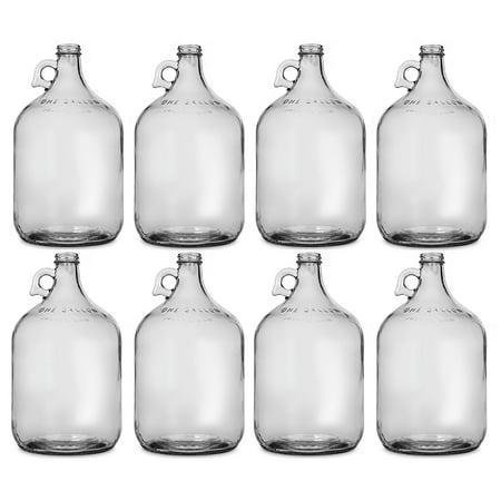 Glass Jug, 1 gal (Pack of 8)