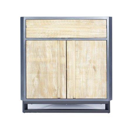 Heather Ann Creations Nova 2 Door Corner Cabinet with 1 Drawer and 1 Shelf