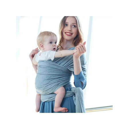 Baby Wrap Carrier All-in-1 Stretchy Baby Wraps - Ergonomic Baby Sling - Infant Carrier - Babys Wrap - Hands Free Babies Carrier Wraps - Best Baby Shower Gift - One Size Fits