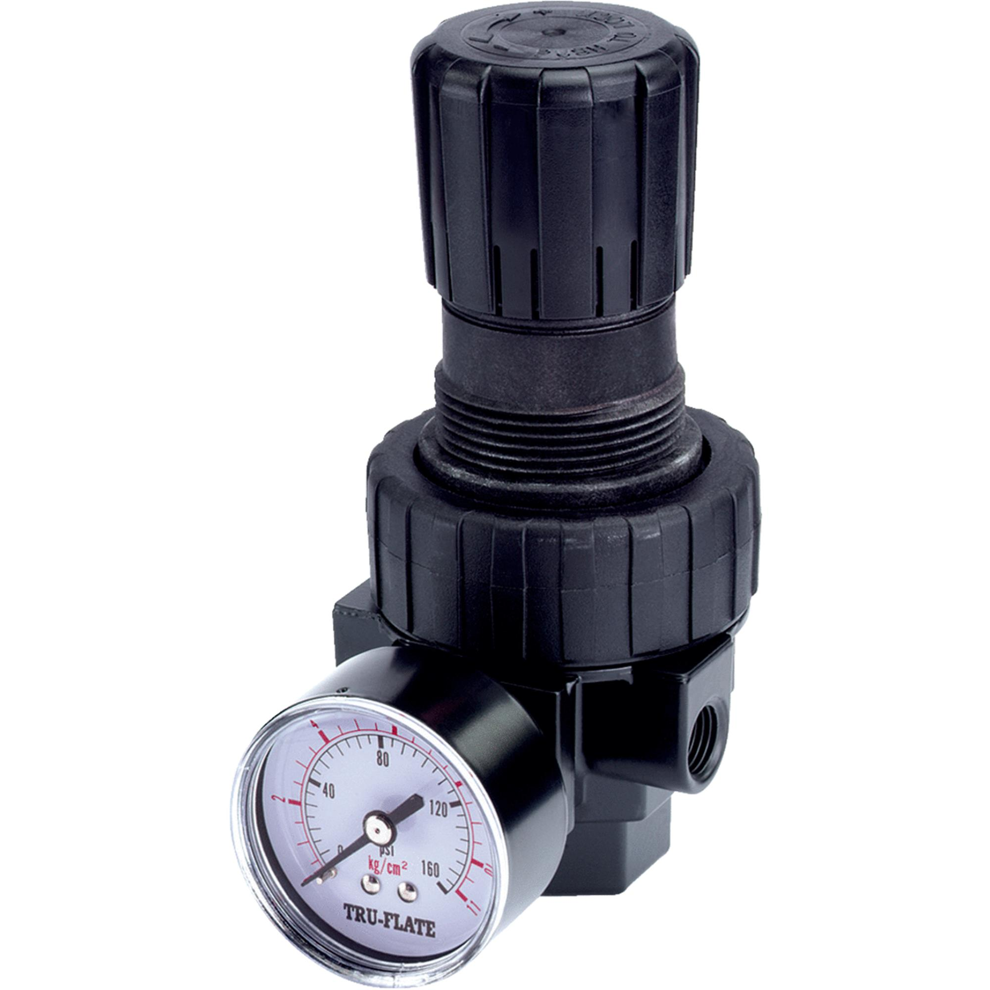 "Plews And Edelman Tomkins 24-414 3/8"" NPTF Pressure Regulator with Gauge"