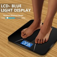 Zimtown Digital Bathroom Scale - Toughened Glass Electronic Weight Scale 396lb/180kg