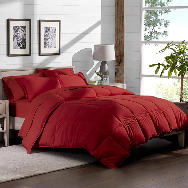 7 Piece Bed In A Bag   California King (Comforter Set: Red, Sheet