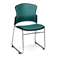 OFM Model 310-VAM Multi-Use Stack Chair with Anti-Microbial/Anti-Bacterial Vinyl Seat and Back, Black