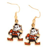 Cleveland Browns Team Logo Wire Earrings- - No Size