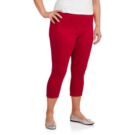 88f322245fe30 Faded Glory - Women's Plus-Size Capri Jeggings - Walmart.com