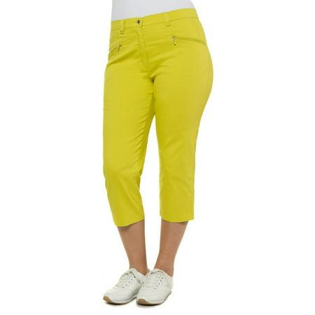 e29f5cc42c7bc Ulla Popken - Ulla Popken Women s Plus Size Stretch Capri Pants 653934 -  Walmart.com