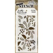 """Stampers Anonymous Tim Holtz Layered Stencil 4.125""""X8.5""""-Festive"""