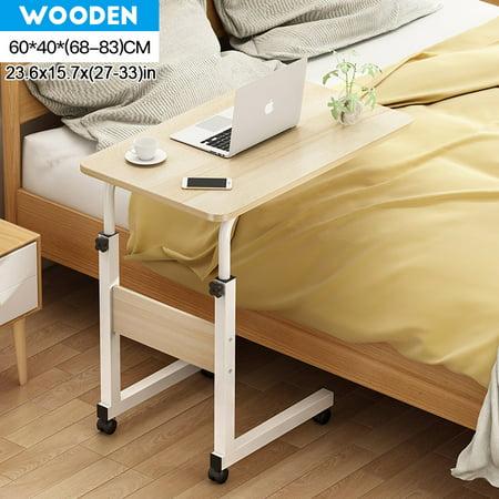 Adjustable Height Laptop Desk Moblie Rolling Bedside Sofa Computer Desk Notebook Table 23.6x15.7x(27-33)inch