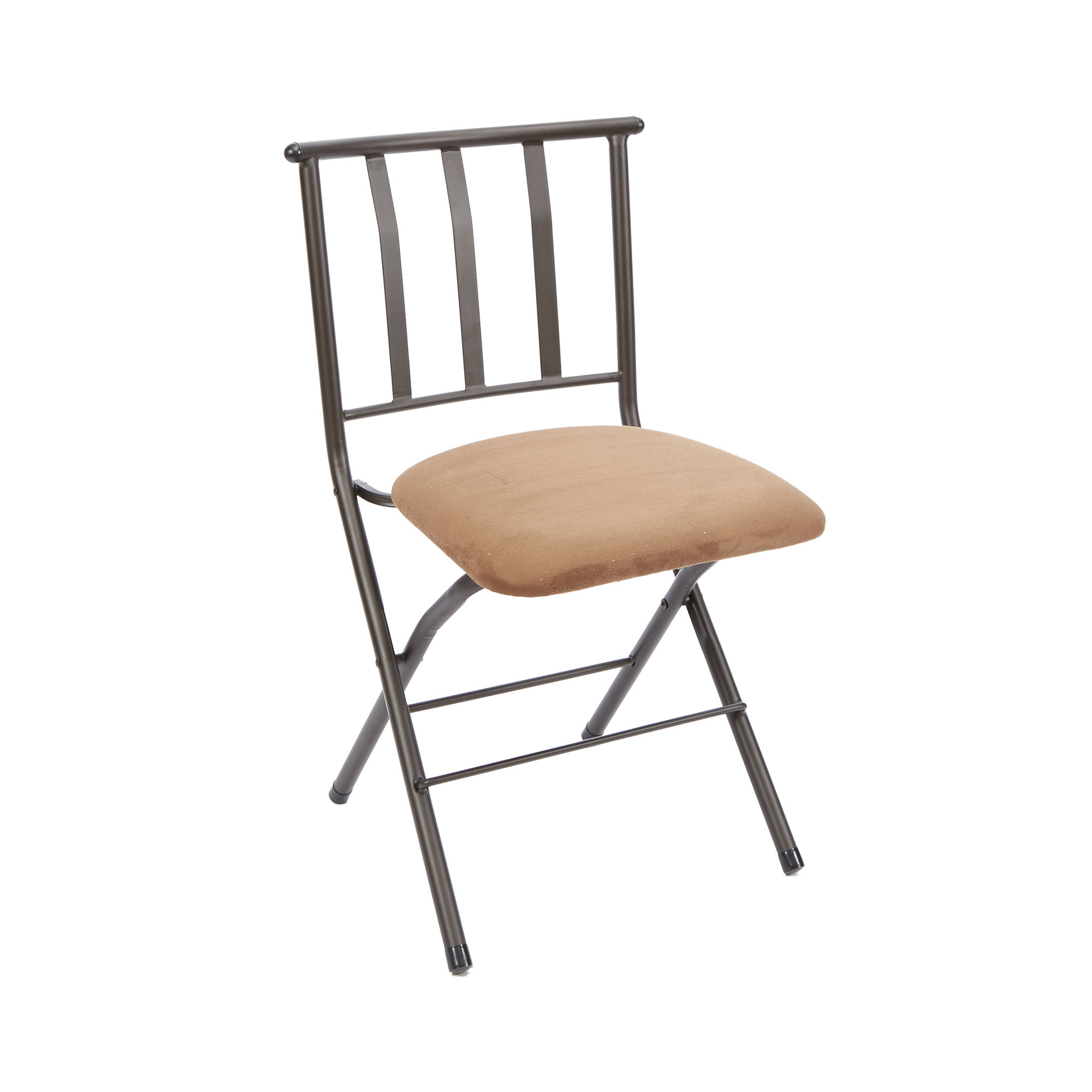 Slat Back Chairs mainstays slat-back folding dining chair, tan - walmart