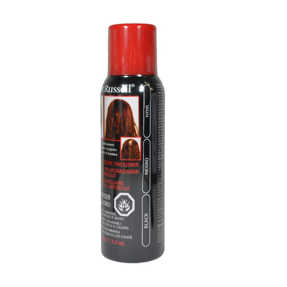jerome russell spray on hair color thickener black 3 5