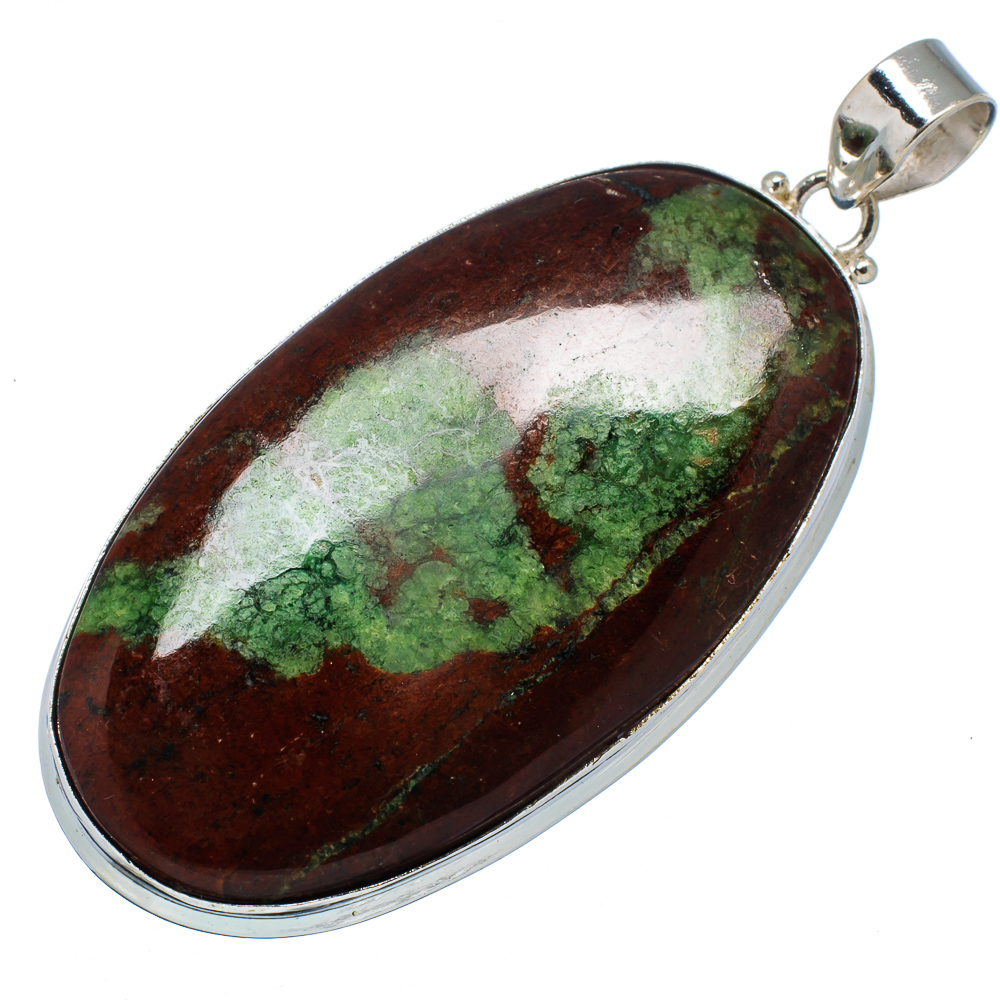 "Ana Silver Co Large Boulder Chrysoprase 925 Sterling Silver Pendant 2 1 2"" PD575755 by Ana Silver Co."