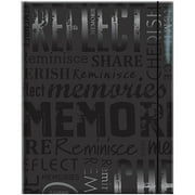 "Embossed Gloss Expressions 100-Pocket Photo Album, 4.75"" x 6.5"", Memories, Black"