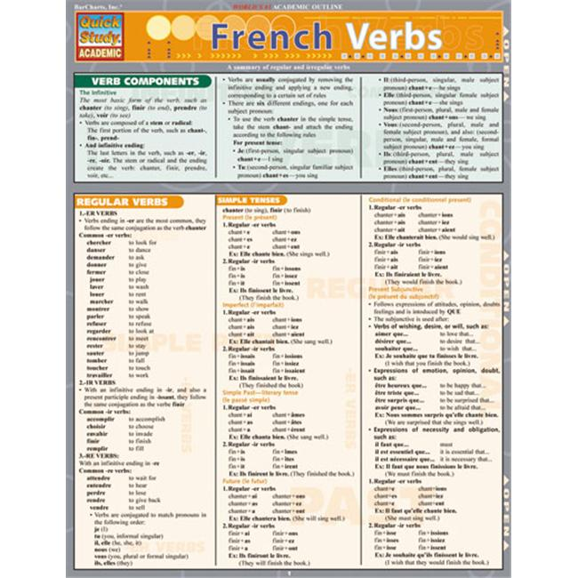 BarCharts- Inc.  9781572229075 French Verbs