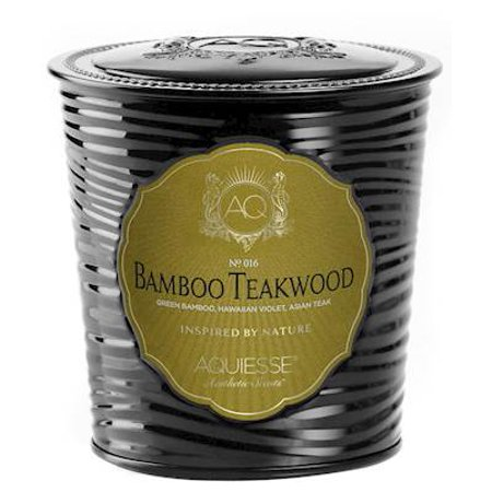 BAMBOO TEAKWOOD TIN 11oz Aquiesse Portfolio Collection  Scented Soy (Bamboo Soy Candle)