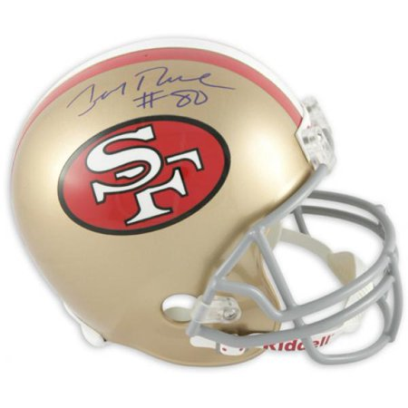 Jerry Rice San Francisco 49ers Autographed Riddell Replica Throwback Helmet - Fanatics Authentic (Jerry Rice Signed Pro Helmet)